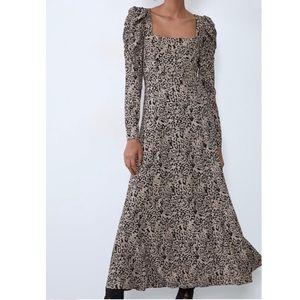 ZARA Animal Print Dress. Size S
